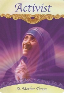 This image is from the Saints & Angels Oracle Cards (Doreen Virtue PhD).